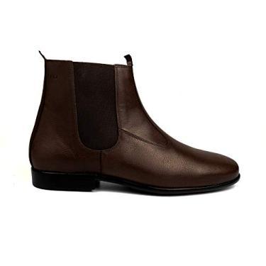 Bota Social Hb Agabe Boots - 400.001 - Pl Cafe - Solado de Borracha Bota Social Hb Agabe Boots - 400.001 - Pl Cafe - Numero:43