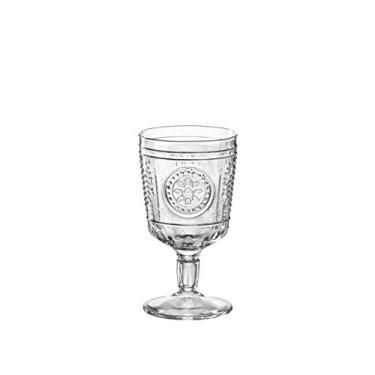 Imagem de Conjunto de copos de vinho românticos Bormioli Rocco – Vintage Italiano com copos de vidro – 320 ml – Pacote com 6, Clear, 10.75 oz, 1