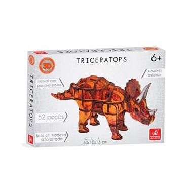 Imagem de Quebra Cabeça Planet Adventure 3D - Triceratops - 5452 - Brincadeira De Criança