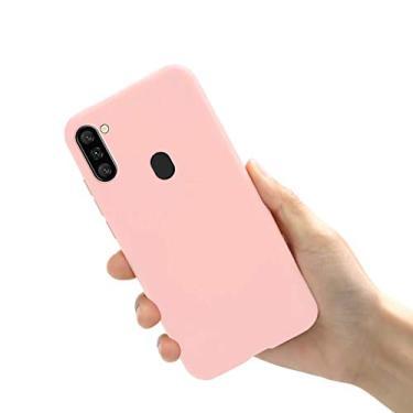 Capa A11 Samsung Galaxy TPU emborrachada utra fina (Rosa)