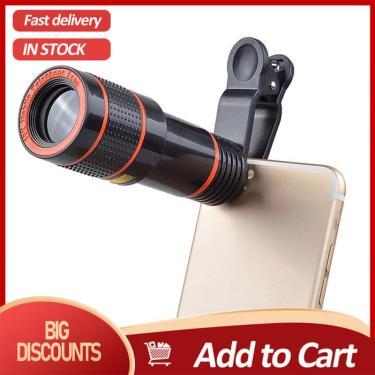 Lente da câmera do telescópio universal clip-on 12x zoom óptico para o telefone celular iphone