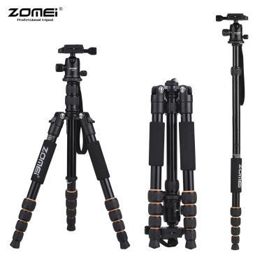 Imagem de Tripé de câmera portátil de viagem zomei q100 q111 q555 q666 q666c, tripé de câmera profissional