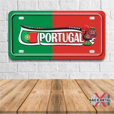 Imagem de Placa Decorativa Formato Placa De Carro Tema Países E Cidades - Portug