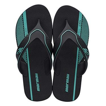 Chinelo mormaii neocycle one ad Preto-verde 43-44