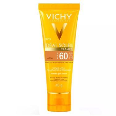 Protetor Gel Creme Vichy Ideal Soleil Clarify FPS 60 Cor Média 40g