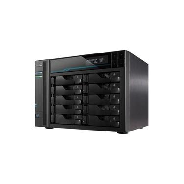 Sistema De Backup Nas Asustor As6510t Intel Atom C3538 2,1ghz 8gb Ddr4 Torre 10 Baias Hot-swap