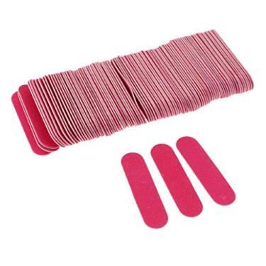 Imagem de shamjina 100 Lixas de Madeira para Lixamento de Unhas Polidor de Cutículas Bloco de Manicure