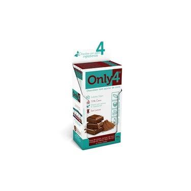 Chocolate Only4 70% - Puro Sem Lactose Caixa com 6 un de 80g