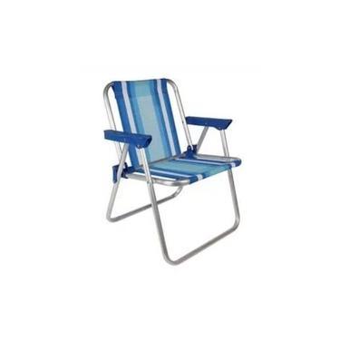 Cadeira Infantil Alta Alumínio Azul - MOR