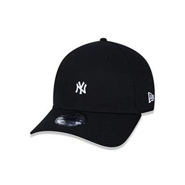 Imagem de BONE 9FORTY MLB NEW YORK YANKEES MINI LOGO NY ABA CURVA SNAPBACK PRETO New Era