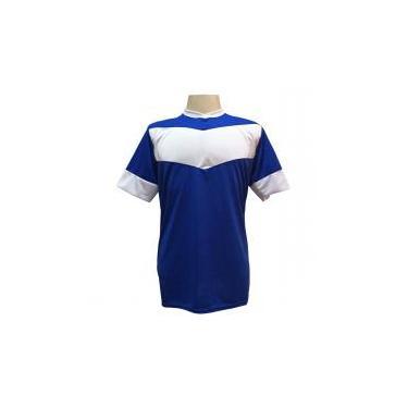 Jogo de Camisa com 18 unidades Columbus Royal Branco + 1 Goleiro + Brindes - e8473cabc2ea4