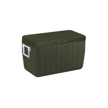 Caixa Térmica Cooler Verde Coleman c/alça e dreno 63 latas