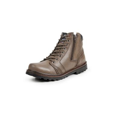 Bota Coturno Casual Masculino Go Well Shoes Bege  masculino