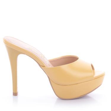 Tamanco Paula Brazil Jolie Napa Amarelo - 38