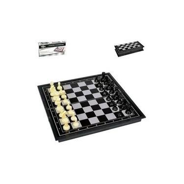 Mini Jogo De Xadrez Magnético Peças Com Imã Compacto