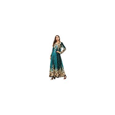 Vestido de mangas compridas feminino boutique com estampa vestido muçulmano