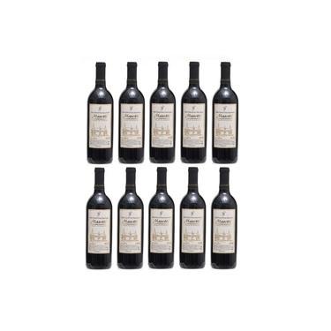 Vinho Tinto Suave De Mesa Bordô Masotti Kit 10 Unidades