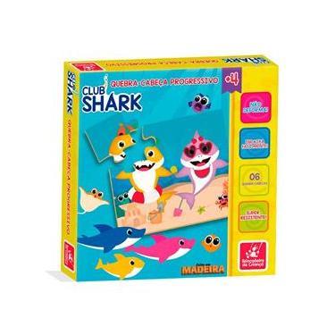 Imagem de Quebra Cabeça Progressivo Club Shark em Madeira - 2307 - Brincadeira De Criança