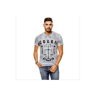 Camiseta Jiu Jitsu Cobra Cinza Masculina