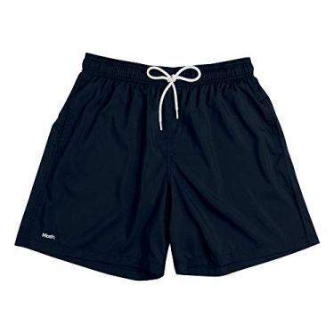 Shorts de praia Mash LISO C/BORDADO MASH Masculino Preto P