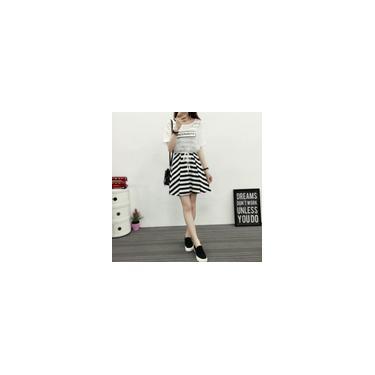 Shopee especiais vestido de verão pequenos frescos listrado sem mangas s