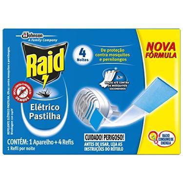 Imagem de Repelente Elétrico Raid Pastilha com 1 aparelho + 4 refis