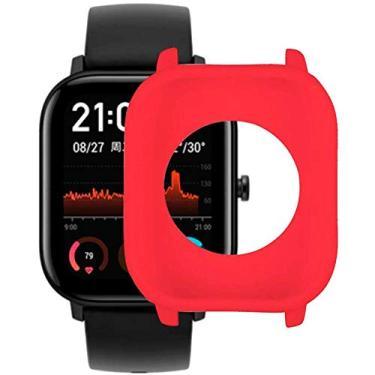 Capa Case Bumper Silicone Flexível Anti Quedas Xiaomi Amazfit GTS - Vermelho