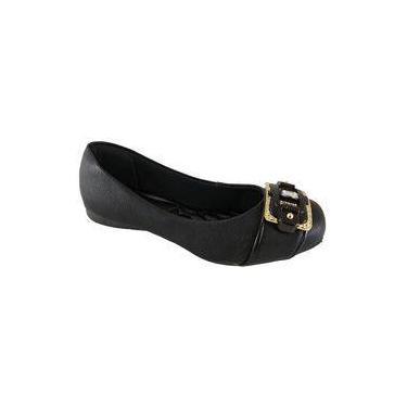 Sapatilha Bico Quadrado SapatoWeb Confort Preto