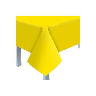 Imagem de 5 Toalhas de Mesa Para Festa Lisa Amarelo Decoração Festas
