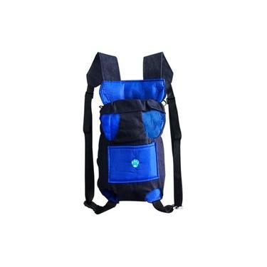 Bolsa canguru para cachorro transporte M Azul
