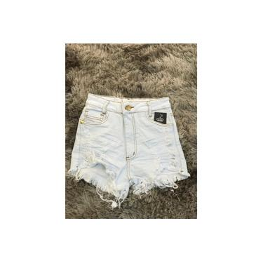 Shorts Jeans Feminino Carmen Off White Cod. 04