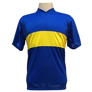 Jogo de Camisa com 14 unidades modelo Boca Juniors Royal/Amarelo + Brindes