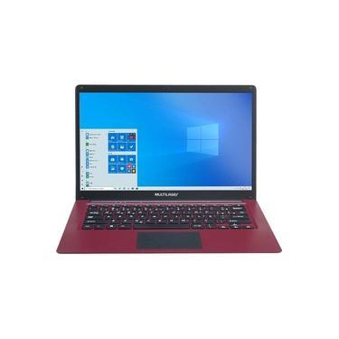 """Imagem de Notebook Multilaser PC132 Legacy Cloud Atom 2GB 32GB 14"""" Windows 10 - Vermelho"""