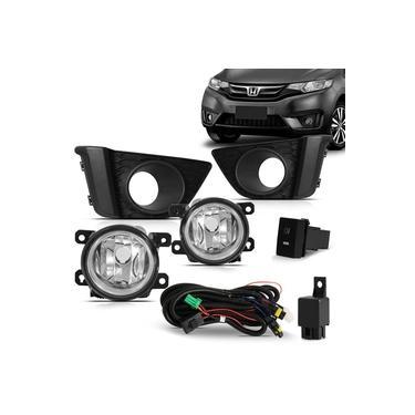 Kit Farol Auxiliar Neblina Honda New Fit 2015 16 17 Completo
