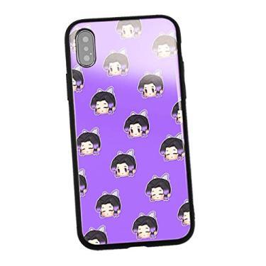 Capa para celular Nezuko Tanjiro Demon Slayer Mangá para iPhone 11 pro max/8 plus/7/XS MAX/XR/X/XS/8/11pro/11/7 Plus Capa para fãs (468, IPhone11 ProMax)