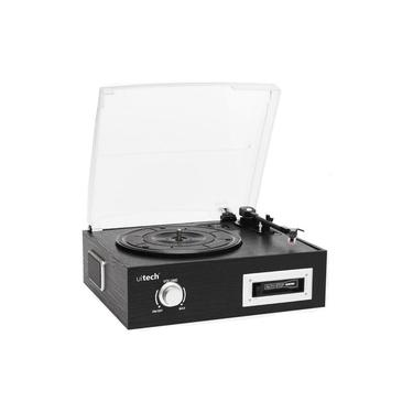 Vitrola Toca Discos De Vinil E Fita Cassete K7 Com Conversor