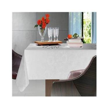 Imagem de Toalha de Mesa Retangular Sienna Branco 8p 160x270cm - Karsten