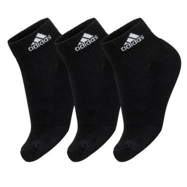Meia Adidas Cano Médio Cushion 3S Preta Pack com 3 unidades - 35 ao 38 315217166d667