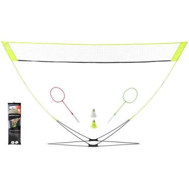 Rede Badminton Easy Net Discovery (Kit Raquetes+ Petecas+Rede) - Easy set discover yellow