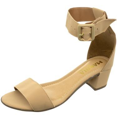 Sandalia Mariha Calçados Maxi Fivela Amêndoa  feminino