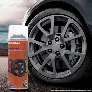 Multilaser Spray De Envelopamento Liquido Emborrachado Grafite 400Ml - Au429