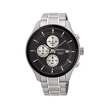 2995efcd58d Relógio Masculino Seiko Neo Sports Chronograph Stainless Steel Black Dial    Bezel - Modelo Seiko-