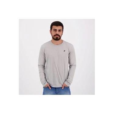 Camiseta Fila Trendy Manga Longa Cinza