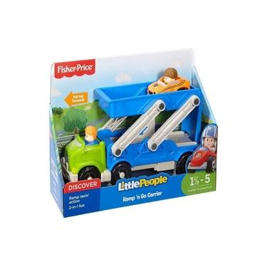 Imagem de Fisher Price Brinquedo Infantil Caminhão Transportador de Veículos Little People Mattel
