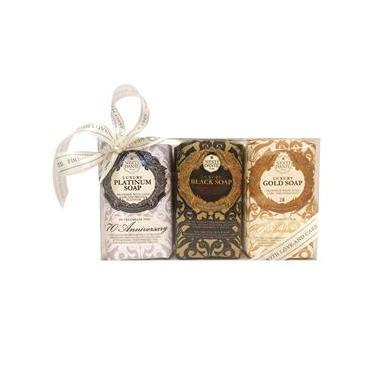 Nesti Dante Luxury Gold Platinum Black Kit - Sabonetes em Barra Kit