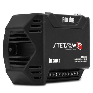 Módulo Amplificador Stetsom Iron Line IR280.3 280W RMS 3 Canais 2 Ohms Digital