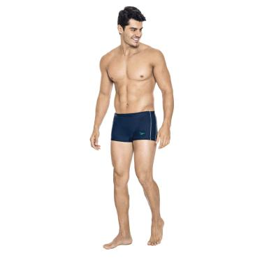 Speedo Contrast Bañador Hidroshort, Homens, Azul (Marinho), GG