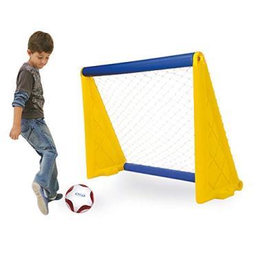 Trave de Gol Infantil com Bola Xalingo Brinquedos Amarelo