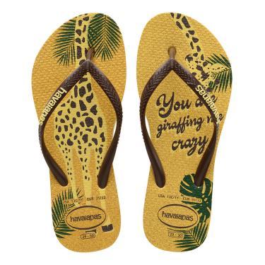 Sandálias Havaianas Kids Slim Glitter Amarelo  menina