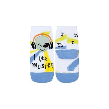 Meia com Cano Kit 3 Infantil Azul Music Lupo